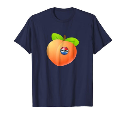 T-shirt S Impeach Trump - Peach with Trump Button Anti Trump T-shirt