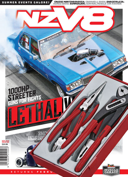 Subscription to NZV8 magazine and Teng Tools plier set - Beach Hop special