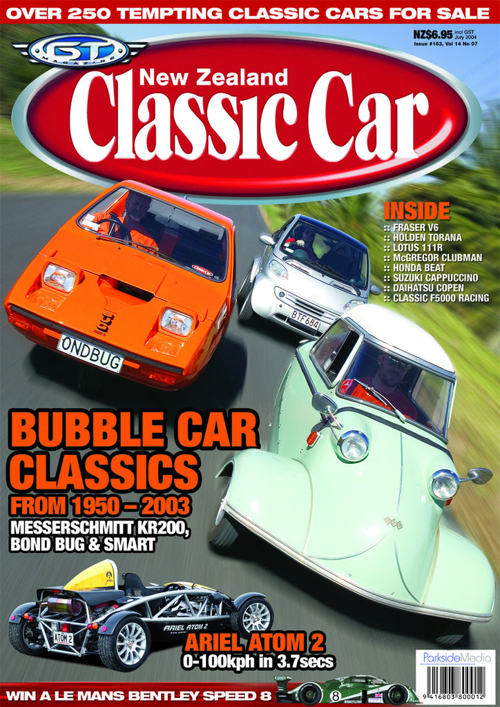 New Zealand Classic Car 163, July 2004