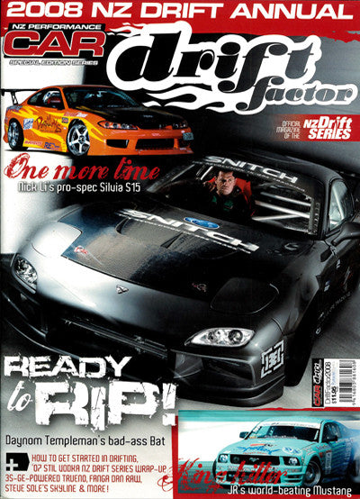 NZ Performance Car Special Edition — Drift Factor 2008