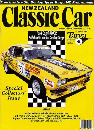 New Zealand Classic Car 107, November 1999