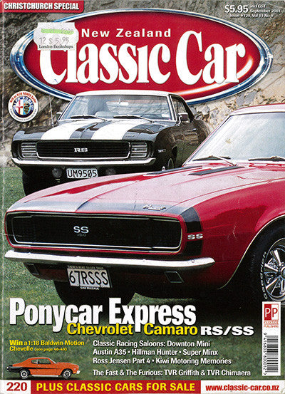New Zealand Classic Car 129, September 2001