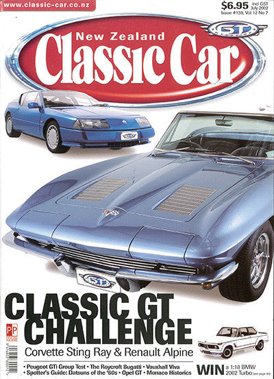 New Zealand Classic Car 139, July 2002