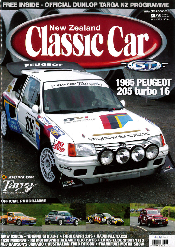 New Zealand Classic Car 155, November 2003