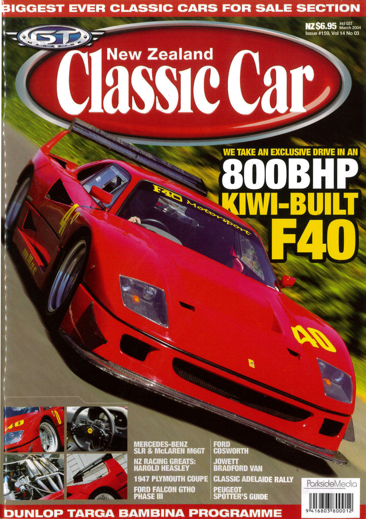 New Zealand Classic Car 159, March 2004