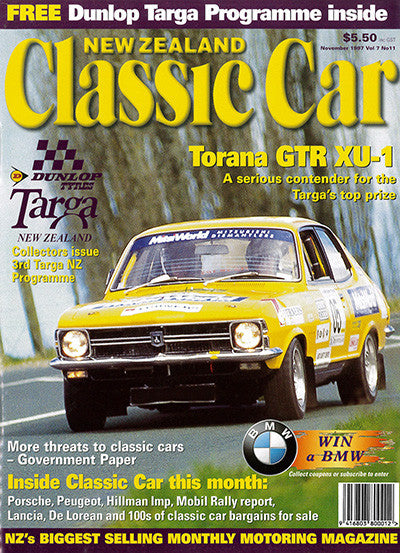 New Zealand Classic Car 83, November 1997
