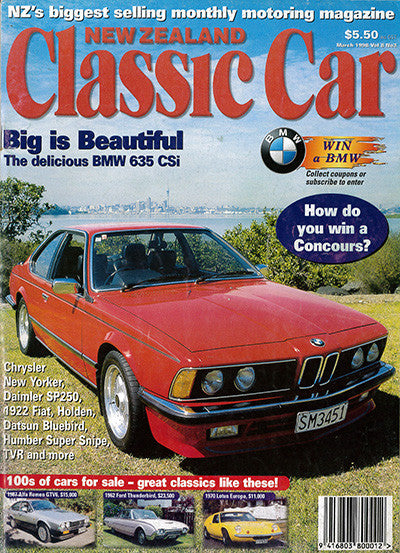 New Zealand Classic Car 87, March 1998