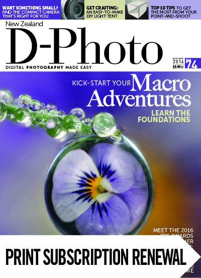Subscription renewal to D-Photo magazine with free issue
