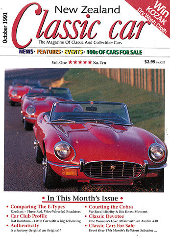 New Zealand Classic Car 10, October 1991
