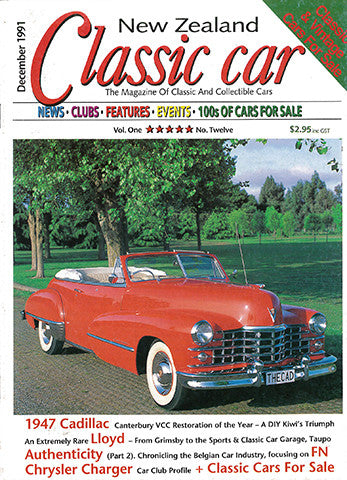 New Zealand Classic Car 12, December 1991