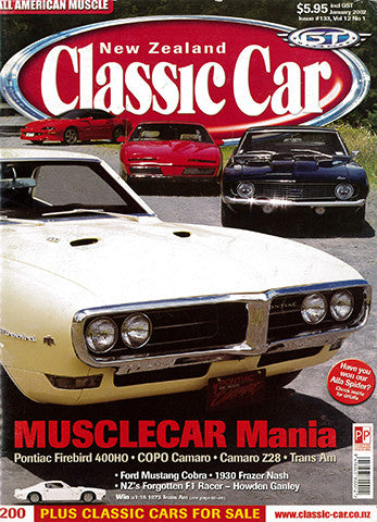 New Zealand Classic Car 133, January 2002