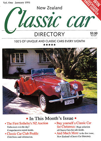 New Zealand Classic Car 1, January 1991