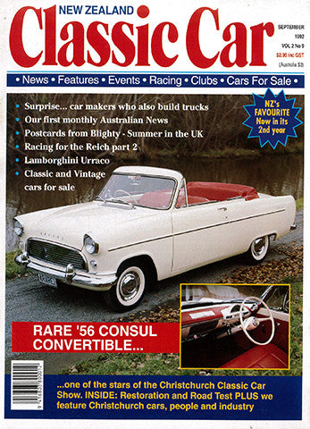New Zealand Classic Car 21, September 1992