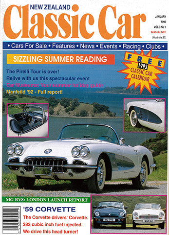 New Zealand Classic Car 25, January 1993