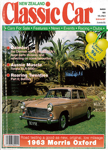 New Zealand Classic Car 27, March 1993