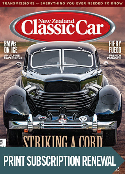 Subscription renewal to New Zealand Classic Car magazine with free issue