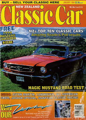 New Zealand Classic Car 37, January 1994