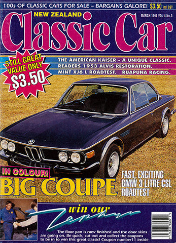New Zealand Classic Car 39, March 1994