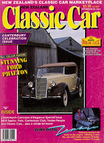 New Zealand Classic Car 45, September 1994