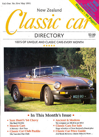 New Zealand Classic Car 5, May 1991