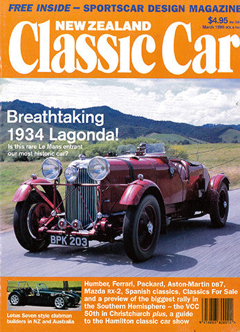 New Zealand Classic Car 63 March 1996 Magstore Nz
