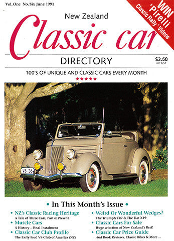 New Zealand Classic Car 6, June 1991