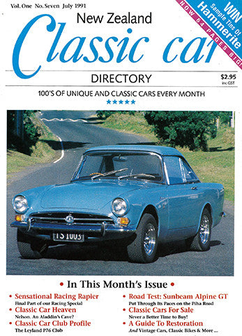 New Zealand Classic Car 7, July 1991
