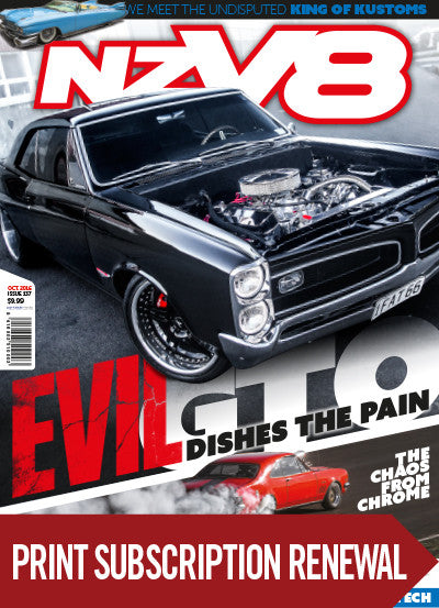 Subscription renewal to NZV8 magazine with free issue
