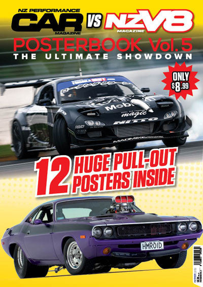 NZ Performance Car vs NZV8 Posterbook  Vol. 5 — The Ultimate Showdown