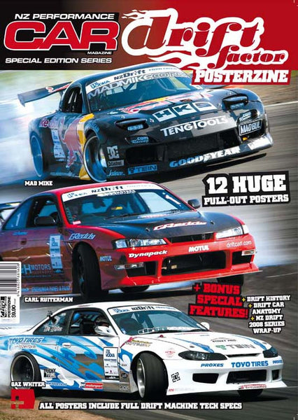 NZ Performance Car Special Edition — Drift Factor Posterzine 2009