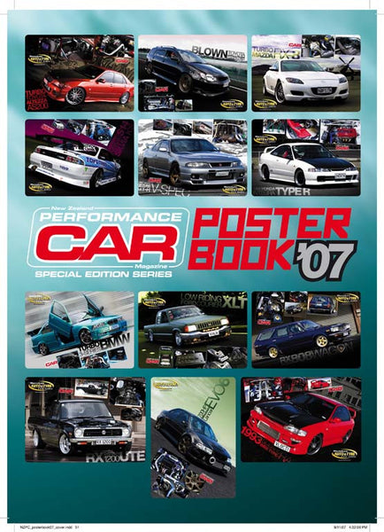 NZ Performance Car Special Edition — Poster Book 2007