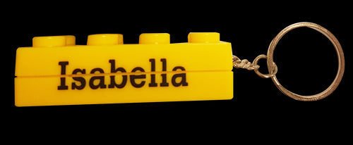 BK033-BK138 Brick Keyrings - Girls