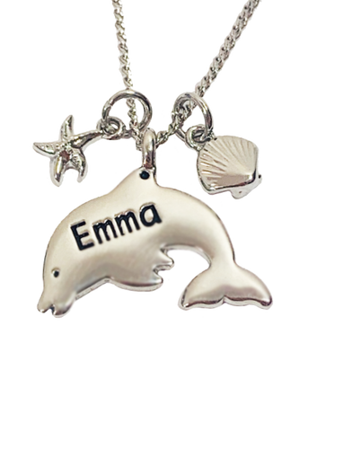 DPN052-DPN128 Dolphin Necklaces - Names