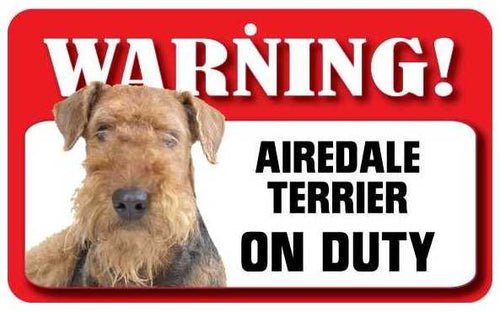 Airedale Terrier Pet Sign