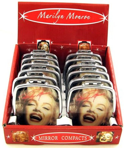 IC047 - Marilyn Black Face Mirror Compact