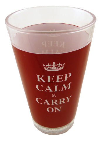 KC092 - Keep Calm & Carry On Beer Glassess