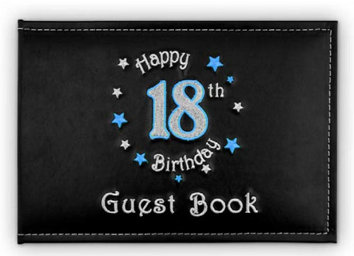 Landmark 18th Guest Book Birthday Blue