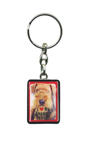 Airedale Terrier Pet Keyring
