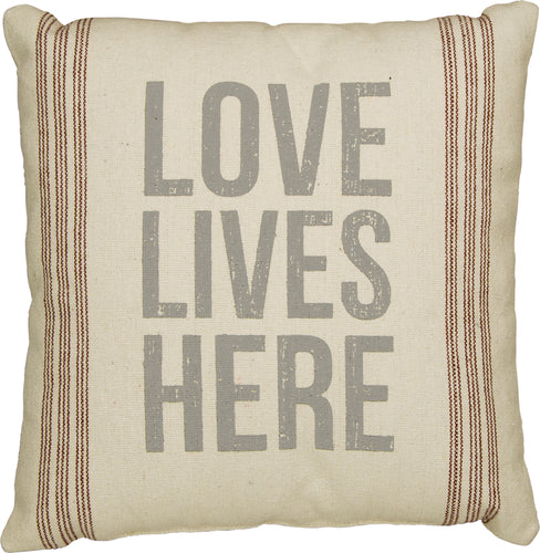 PKC255 - Love Lives Here Cushion 15''