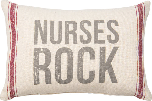 PKC287 - Nurses Rock Cushion 15'' X 10''