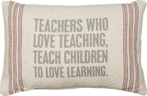 PKC288 - Teachers  Love Teaching Cushion 15''X10'