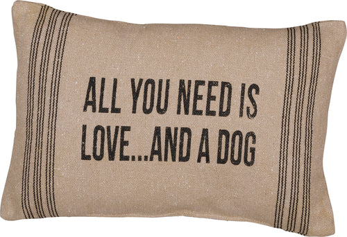 PKC290 - All You Need Is Love Dog Cushion 15''X10