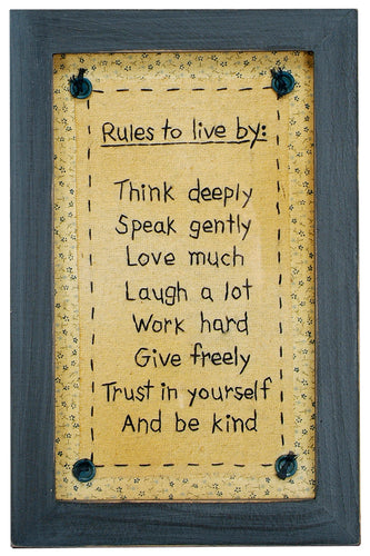 SK023 - Stitcheries By Kathy - Rules To Live By