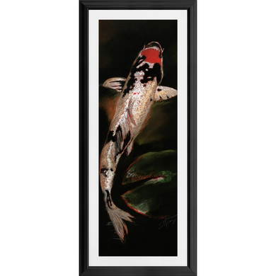 Koi Curves White (Framed)