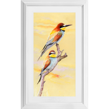 Load image into Gallery viewer, Bee Eaters at Sunset (Framed)