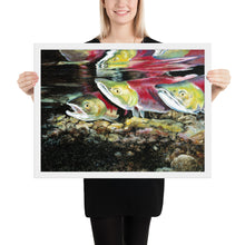 Load image into Gallery viewer, Salmon Run (Framed Poster)