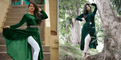 How To Style Our Velvet Umbrella Kurta In The Most Stylish Way