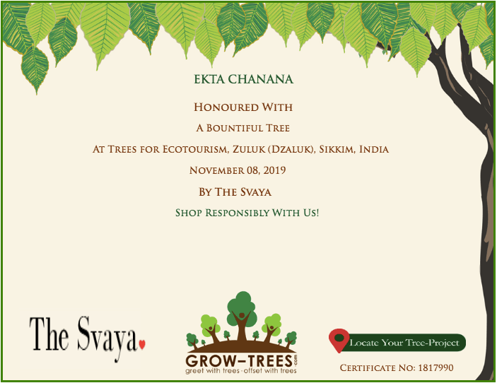 Ekta - Grow a tree by The Svaya