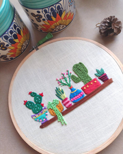 Meranji - Custom Embroidered Hoop Art