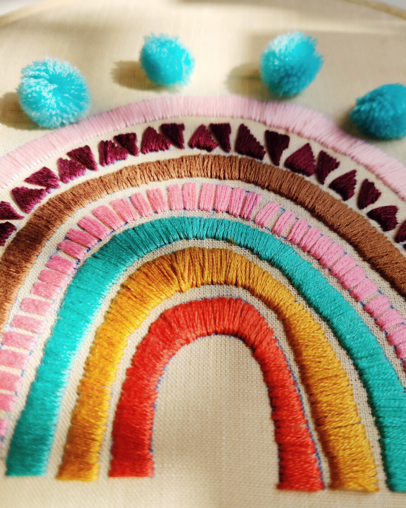 Rainbow - A Hand Embroidered Hoop Story